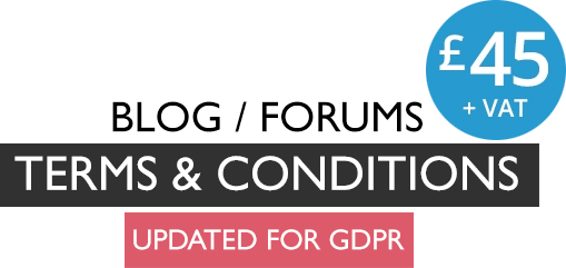 Blog Terms and Conditions and Forums